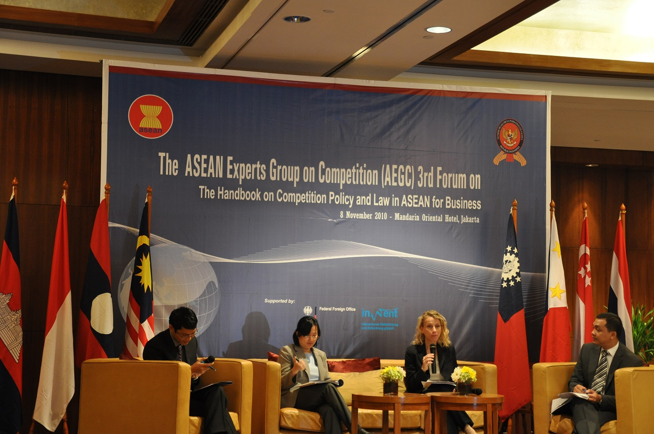 The ASEAN Experts Group on Competition (AEGC) 3rd Forum, 8 November 2010